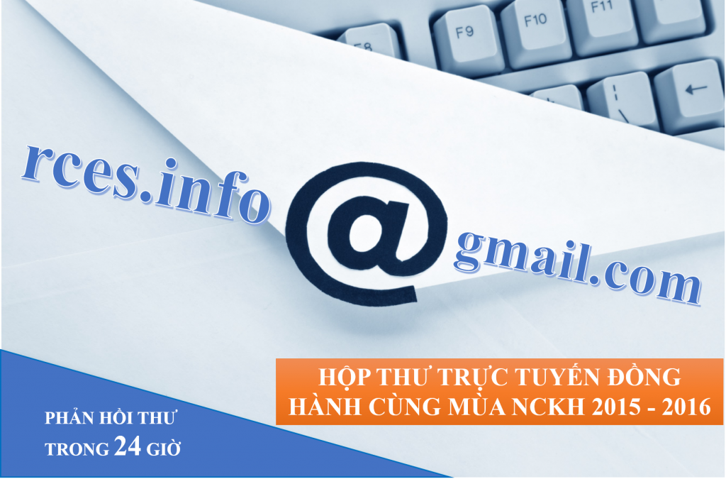 Hộp thư trực tuyến đồng hành cùng mùa NCKH 2015 - 2016
