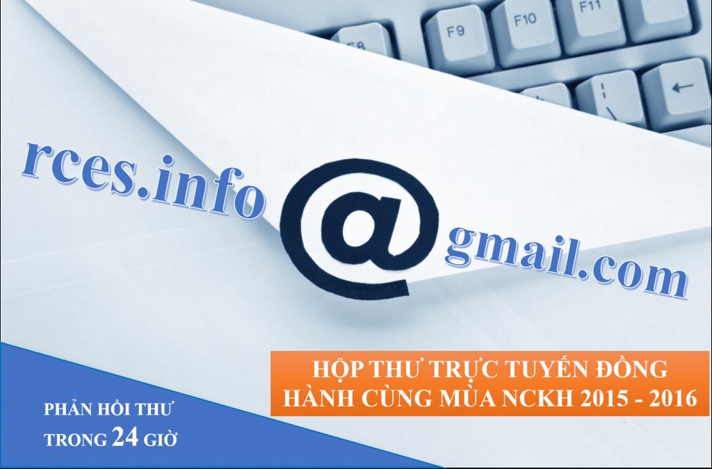 Hộp thư trực tuyến đồng hành cùng mùa NCKH 2019 - 2020