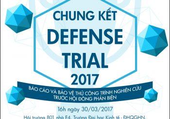 Sắp diễn ra: Chung kết cuộc thi DEFENSE TRIAL 2017