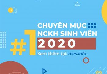 CHUYÊN MỤC NGHIÊN CỨU KHOA HỌC SINH VIÊN SỐ 1 NĂM 2020