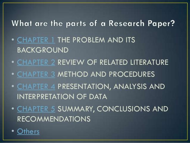 Các chương chính trong công trình nghiên cứu